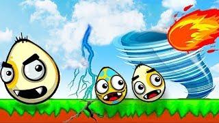 ЗЛЫЕ ЯЙЦА против ТОРНАДО и Злых ПЧЕЛ  Игра как мультик для Детей Удар Стихии Очень злые яйца