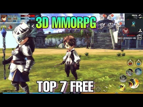 TOP 7 FREE 3D MMORPG OPEN WORLD ANDROID/IOS