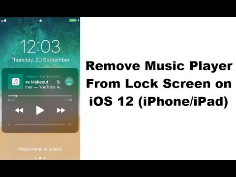 How to remove the music app from my lock screen iphone x