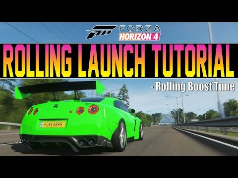 Forza Horizon 4 - How To Get ROLLING LAUNCH! - Rolling Boost Tuning Tutorial thumbnail