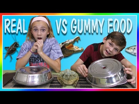 Thumbnail: DISGUSTING REAL FOOD VS GUMMY FOOD SWITCH UP CHALLENGE | We Are The Davises