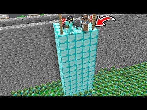 ZOMBİLER ZENGİN VE FAKİR'in SUR KALESİ'ne SALDIRDI! 😱 - Minecraft thumbnail