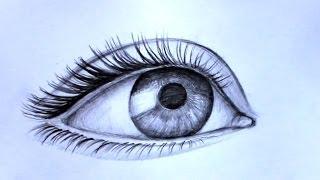 Уроки рисования. Как нарисовать РЕАЛИСТИЧНЫЙ ГЛАЗ  карандашом(Как нарисовать реалистичный глаз карандашом ▻ Скачайте видео урок
