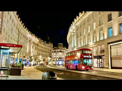 London's 2021| Walking Regent Street at Night | Heart of Business Central London