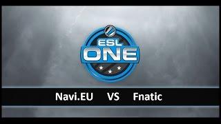 [ Dota2 ] Navi.EU vs Fnatic - ESL One New York 2014 Qualifier Europe - Thai Caster