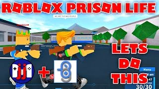 Lets Break Out of Prison | Roblox Prisoner Life with GamerBoy JJM