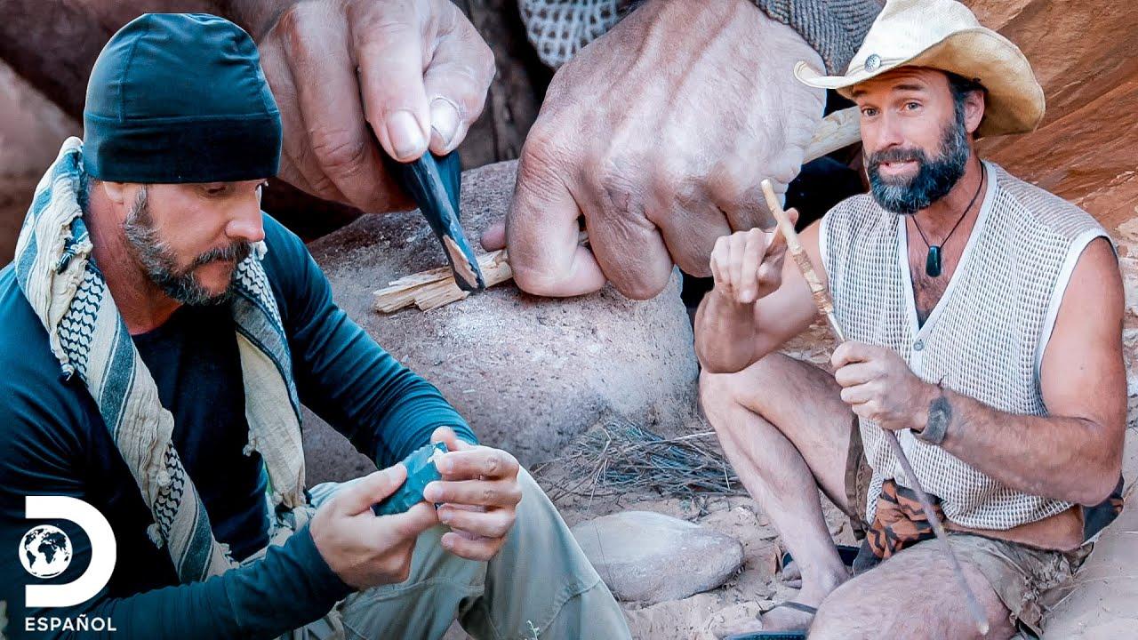 Joe y Matt fabrican herramientas con rocas naturales | Desafío X 2 | Discovery En Español