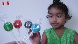Toddler Learn Colors with Lollipop real baby Ishfi