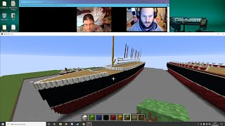 Bri & Rich's Minecraft Creative Ep 83 (Ships N Pixels)