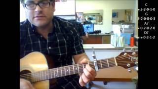 "How to play ""Crazy"" by Patsy Cline on acoustic guitar (Made Easy)"