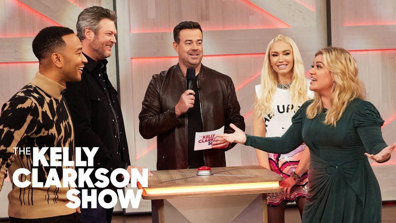 Blake Shelton, Gwen Stefani, John Legend And Kelly Guess Famous Celebrity Voices
