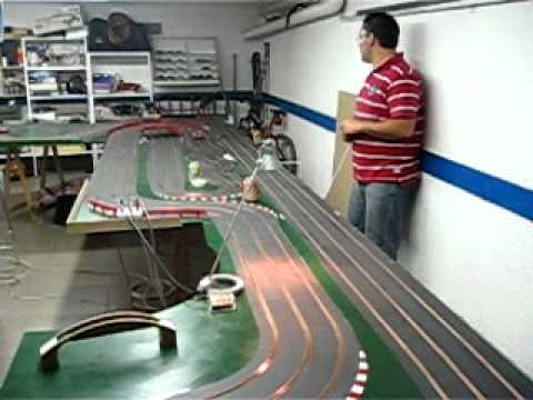 Scalextric Wood Slot Track home made