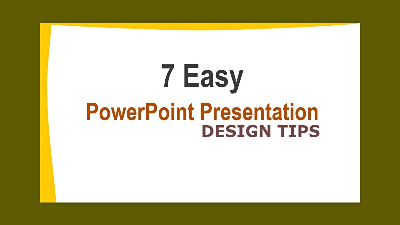 powerpoint presentation design tips how to design powerpoint