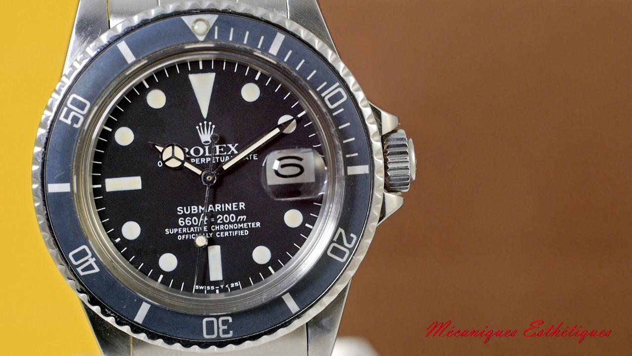 """Rolex Submariner 1680 (1977) fantastic """"high plexi"""" Sub Date"""