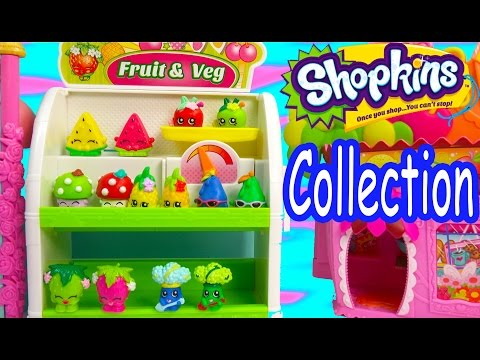 Shopkins COLLECTION TOUR Season 1 All Fruit & Veg Vegetable Easy Squeezy Part 1 Video Cookieswirlc
