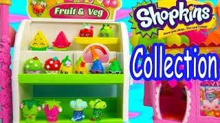 Shopkins COLLECTION TOUR Season 1 All Fruit & Veg Vegetable Easy Squeezy Part 1 Video Cookieswirlc