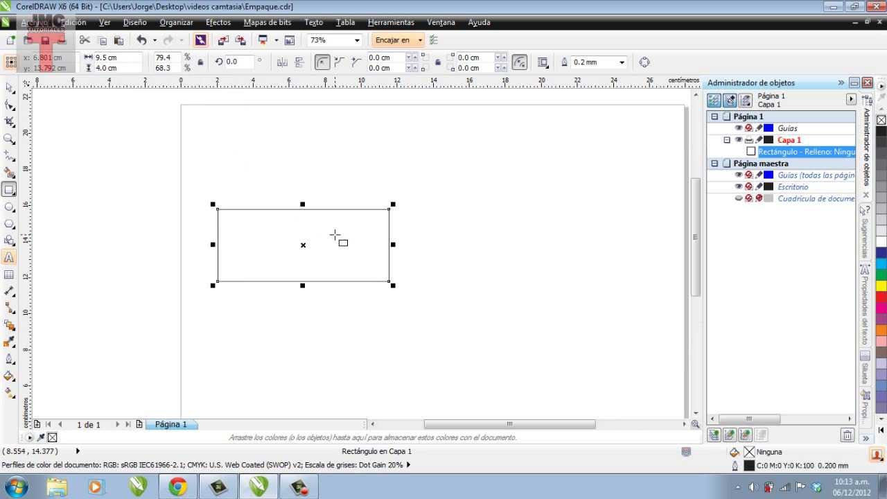 Como hacer un empaque con corel draw youtube for Programa para hacer un plano sencillo gratis