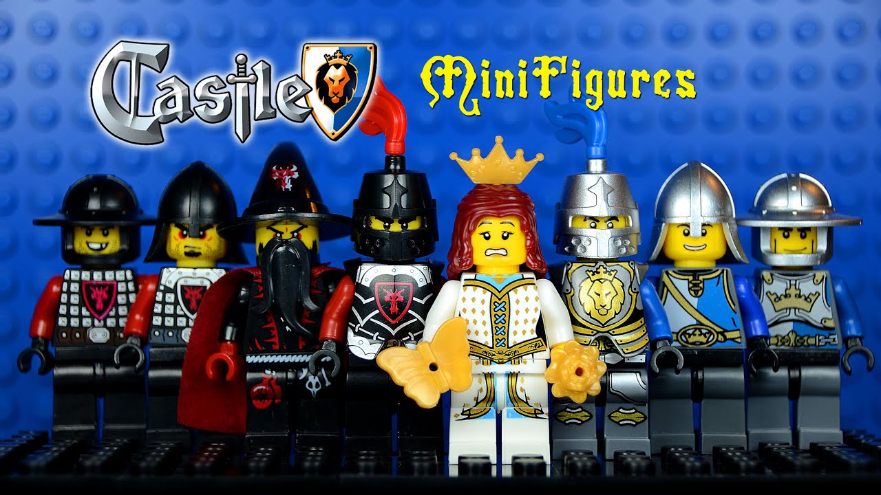 lego castle dragon knights vs lion knights knockoff minifigures