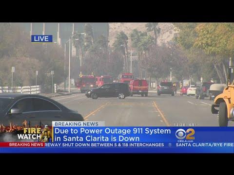 Santa Clarita Fire Shuts Down 5 Freeway; 911 System Downed