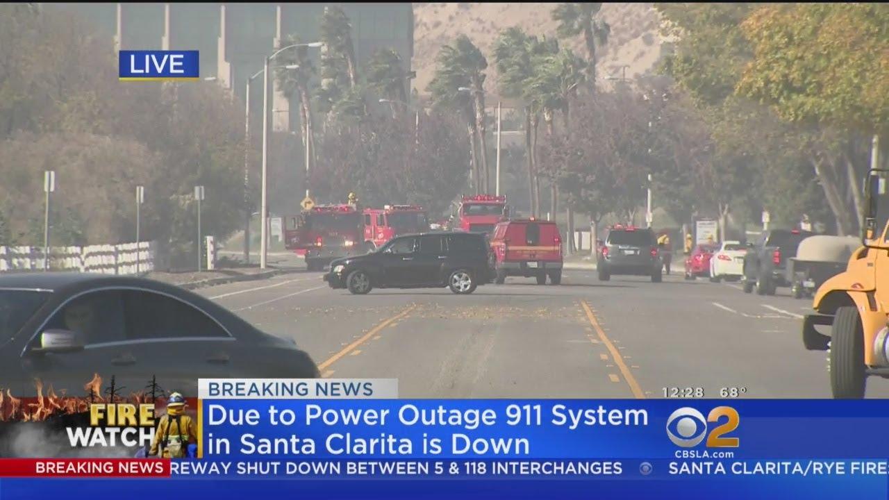 Santa Clarita Fire Shuts Down  System Downed