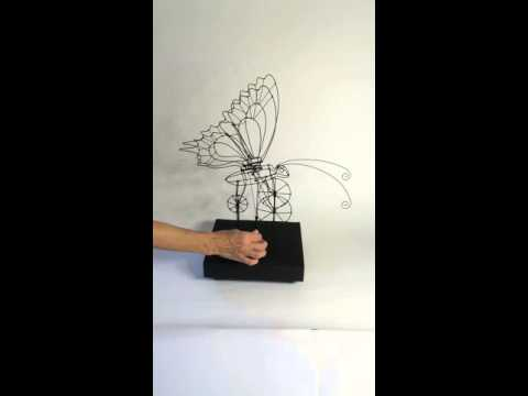 Kinetic Wire Sculpture - Butterfly