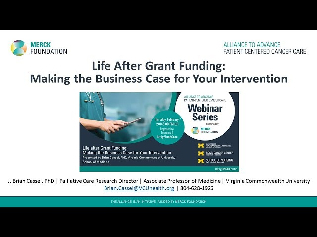 Life After Grant Funding: Making the Business Case for Your Intervention