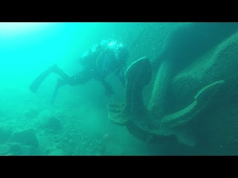 Diving the Emperor Bow on 9 14 2017 Isle Royale
