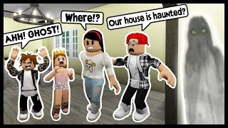 OUR BLOXBURG HOUSE IS HAUNTED! - Roblox