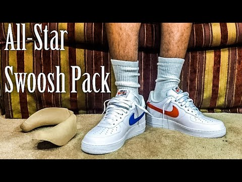 2018 White Nike All Star Air Force One SWOOSH Pack | Review & Try On