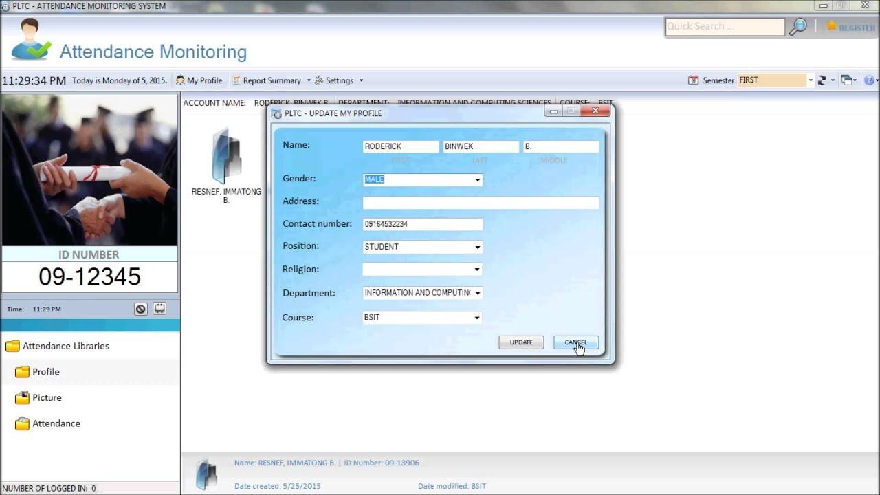 Attendance Monitoring System On Vb Net