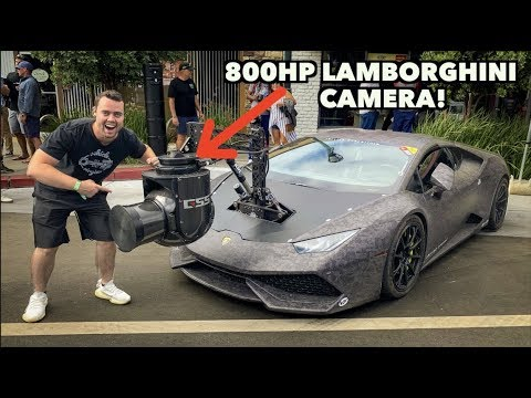 RARE 800HP LAMBORGHINI WITH A $1 MILLION DOLLAR CAMERA ATTACHED!