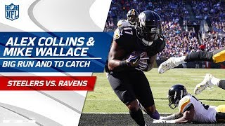 Collins' Massive Run Sets Up Flacco's TD Pass to Wallace!   Steelers vs. Ravens   NFL Wk 4