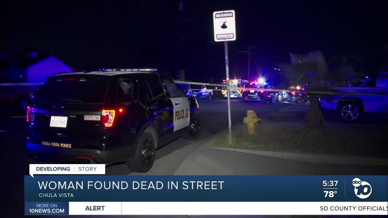 Download Chula Vista woman found dead in street
