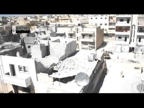 Alleppo- 12/09/13 –  Assad shelling impact on Albab city