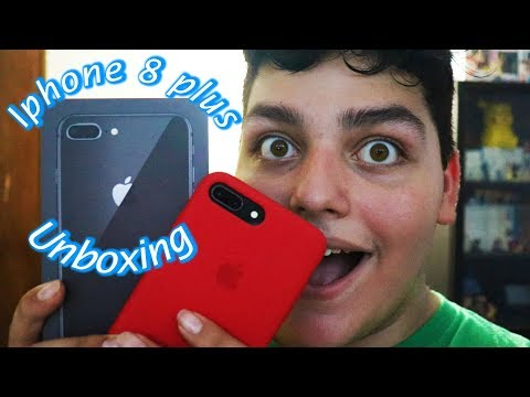 Space Grey IPhone 8 Plus & Product Red Case Unboxing | Summers With Wayde