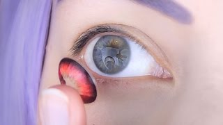 ☆ circle lenses how to put in remove check open clean store ☆