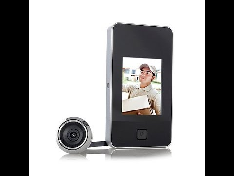 Hometech 2 8 Quot Lcd Digital Security Door Viewer Youtube