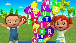 ABC Songs for Children | Little Babies Fun Play Learning Alphabets with Squirrel Puzzle Toy Set 3D