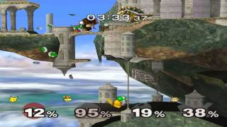 Super Smash Bros Melee gameplay on PC 1080P /w pikachu