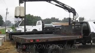 F550 CRANE KNUCKLEBOOM TRUCK BALANCES! LIFTS HUGE CONCRETE BLOCK! FAST SOLD