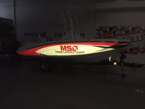 Reflective Boat Wrap By Revolution Wraps Omaha Nebraska