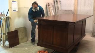 Refinishing A Large Office Desk Made By Baker Furniture