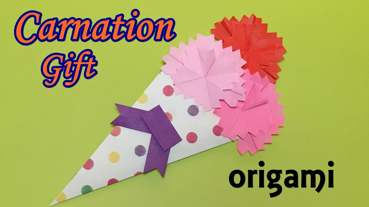 Diy mothers day gift ideas origami carnation flower tutorial easy diy mothers day gift ideas origami carnation flower tutorial easy money saving crafts mightylinksfo Images