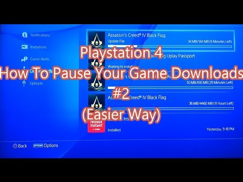 Playstation 4 - How To Pause Your Game Downloads (The Easy Way)