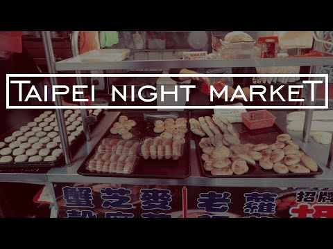 Raohe Night Market in Taipei | Couple Travel Vlog | Taiwan