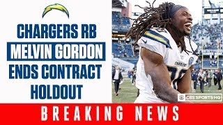 Melvin Gordon to end contract holdout with Chargers: details and fantasy Impact  | CBS Sports HQ