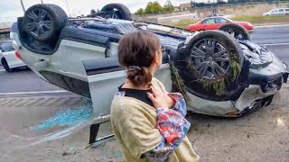 LADY PULLED FROM WRECKED CAR   BEST & WORST MOTO MOMENTS OF THE WEEK [Ep.#25]