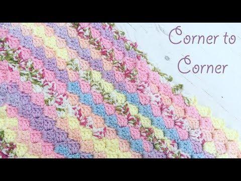 Easy Crochet: Corner to Corner (C2C) blanket for beginners