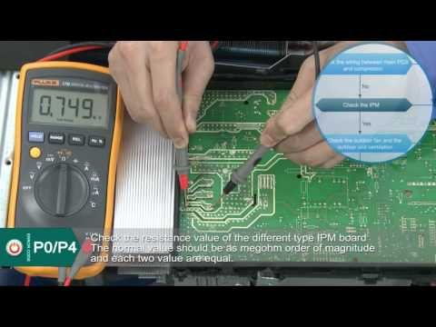 Innovair Mini Split Inverter Error Codes P0 P4