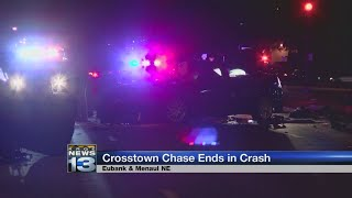 Albuquerque Police respond to crash involving armed carjacking suspect